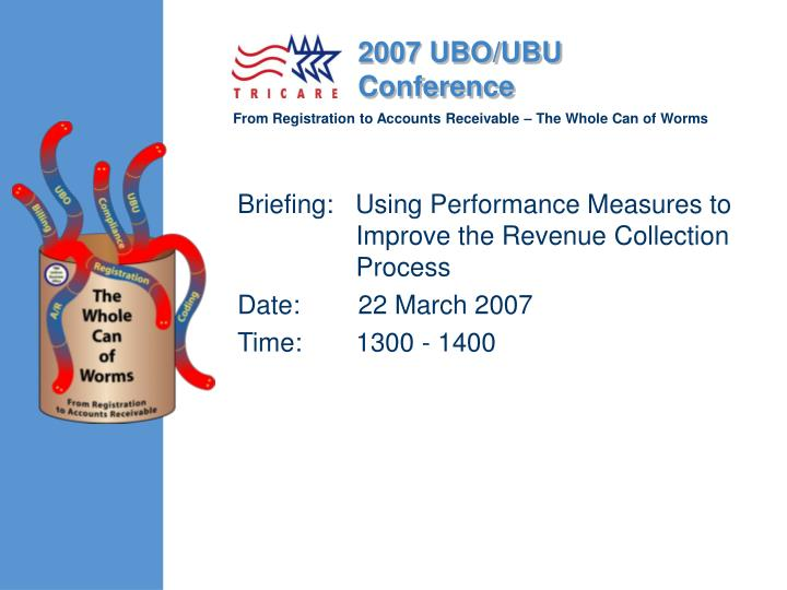 Briefing:   Using Performance Measures	to Improve the Revenue Collection Process