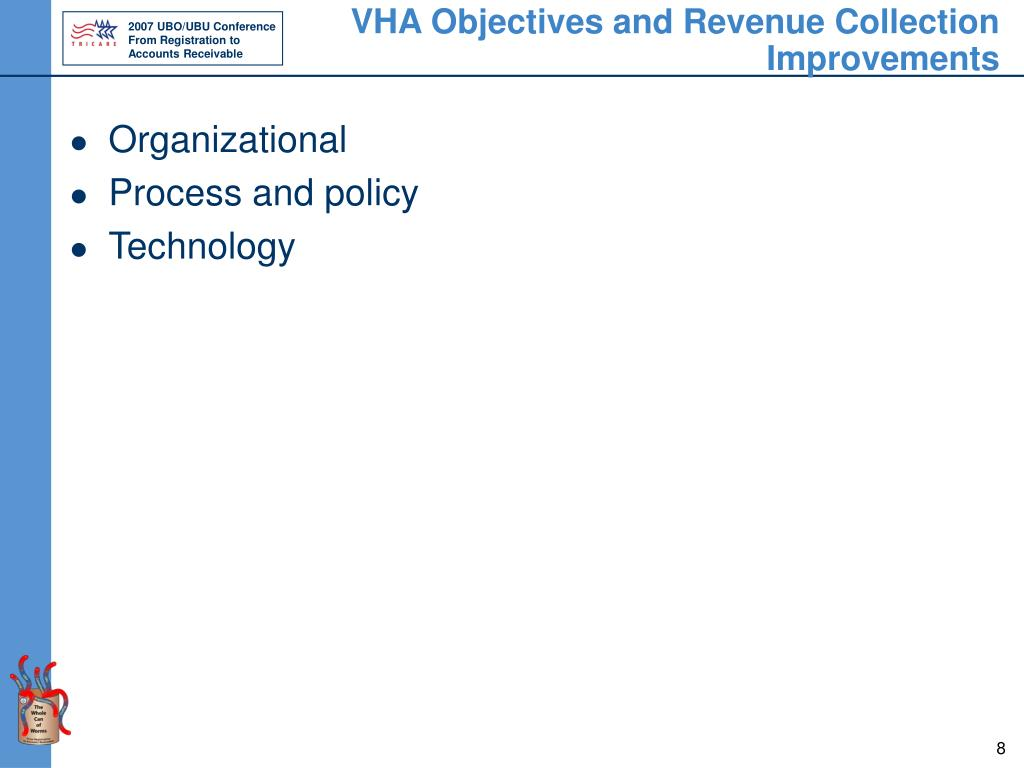 VHA Objectives and Revenue Collection Improvements