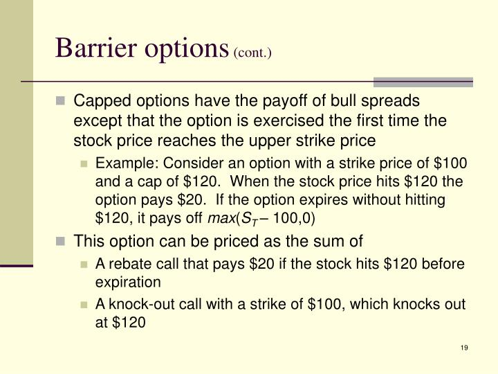Barrier options