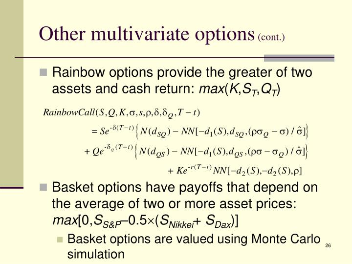 Other multivariate options