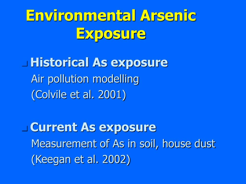 Environmental Arsenic Exposure