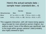 here s the actual sample data sample mean standard dev n