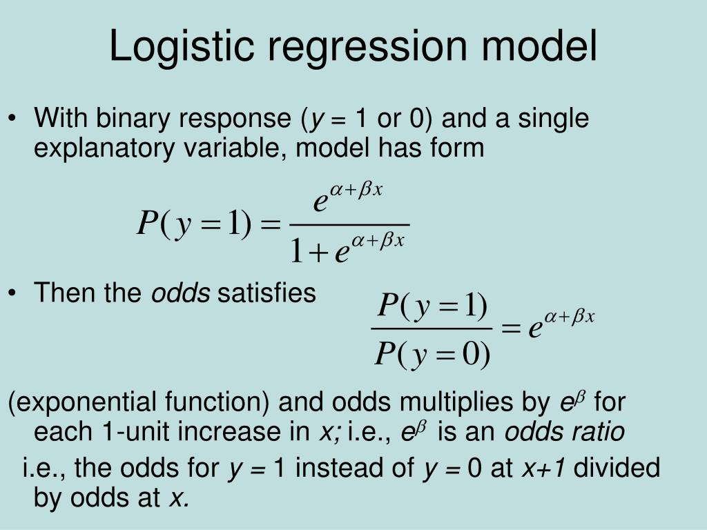 Logistic regression model