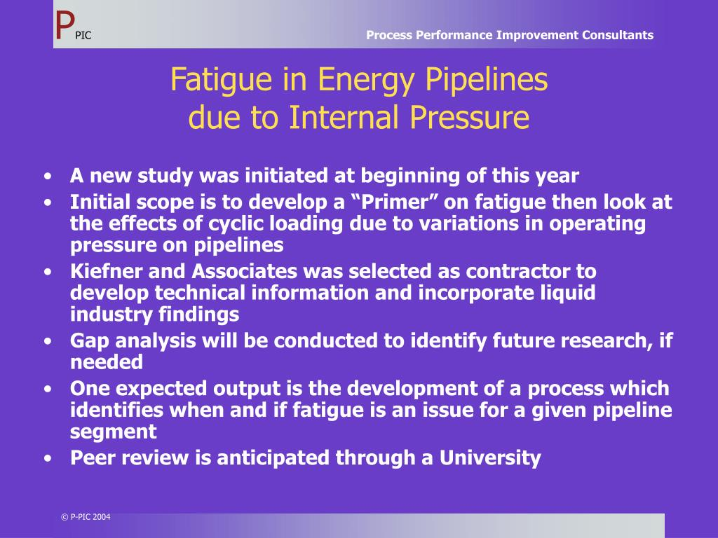 Fatigue in Energy Pipelines
