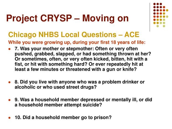 Project CRYSP – Moving on