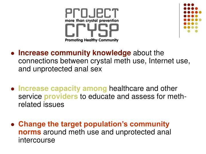Increase community knowledge