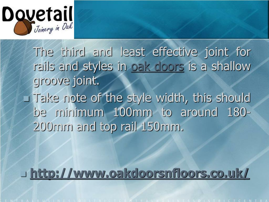The third and least effective joint for rails and styles in