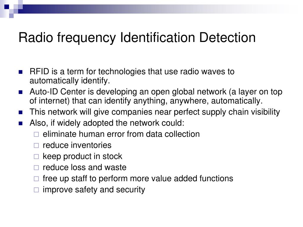 Radio frequency Identification Detection
