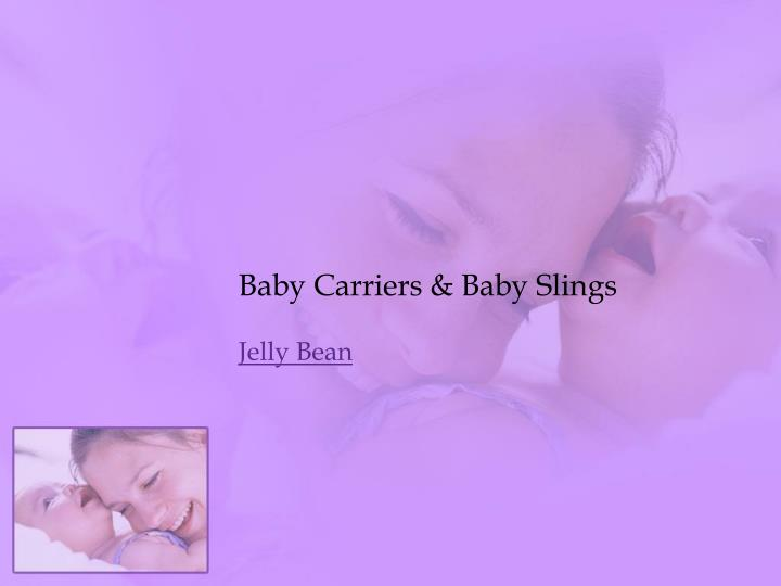 Baby carriers baby slings