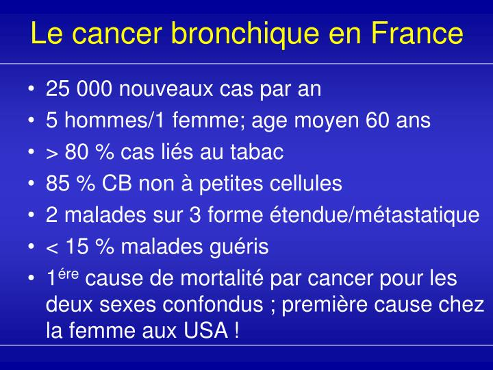 Le cancer bronchique en france l.jpg