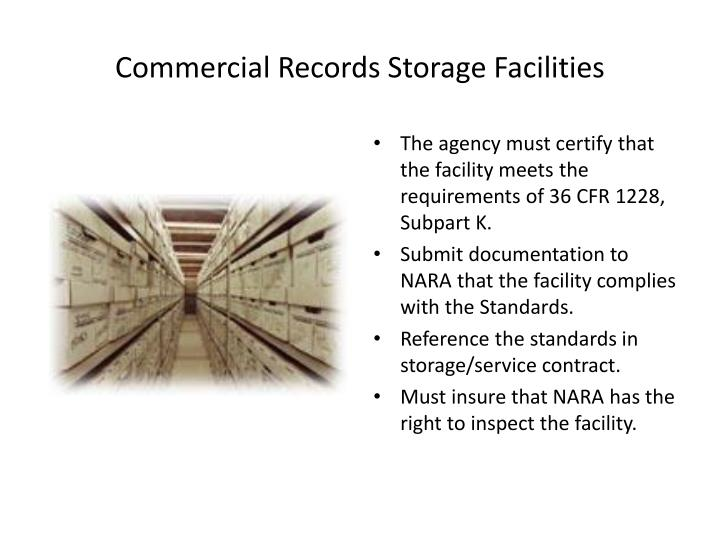 Commercial Records Storage Facilities