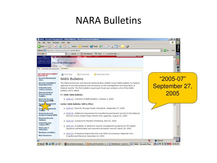 NARA Bulletins