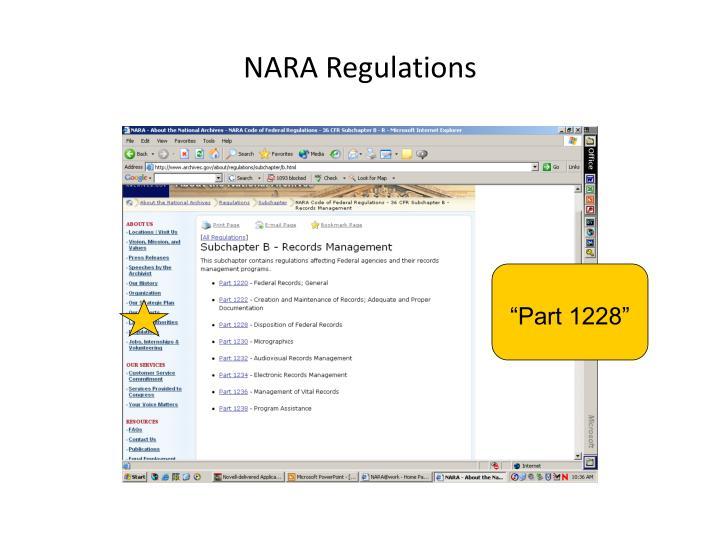 NARA Regulations