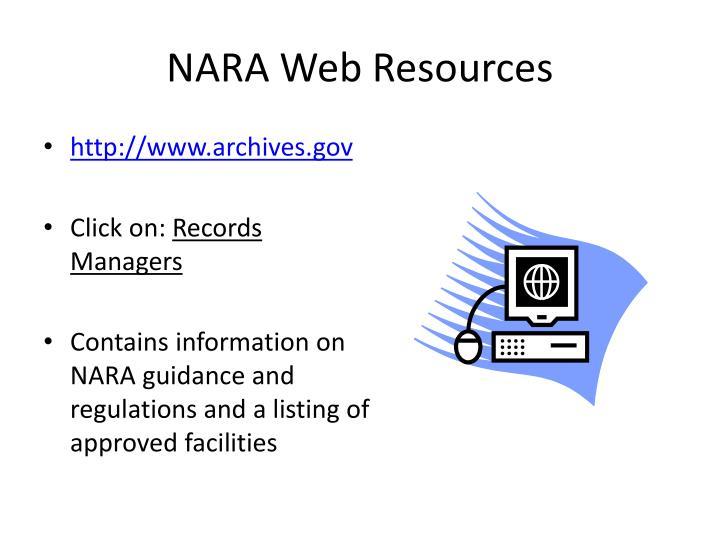 NARA Web Resources