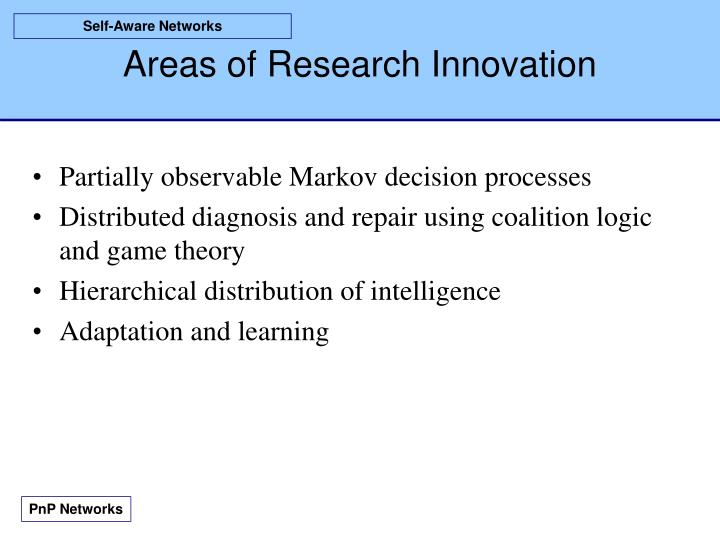 Areas of research innovation