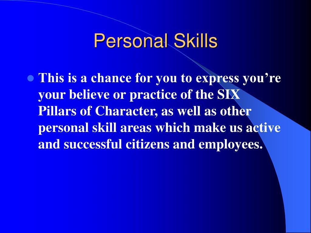 Personal Skills