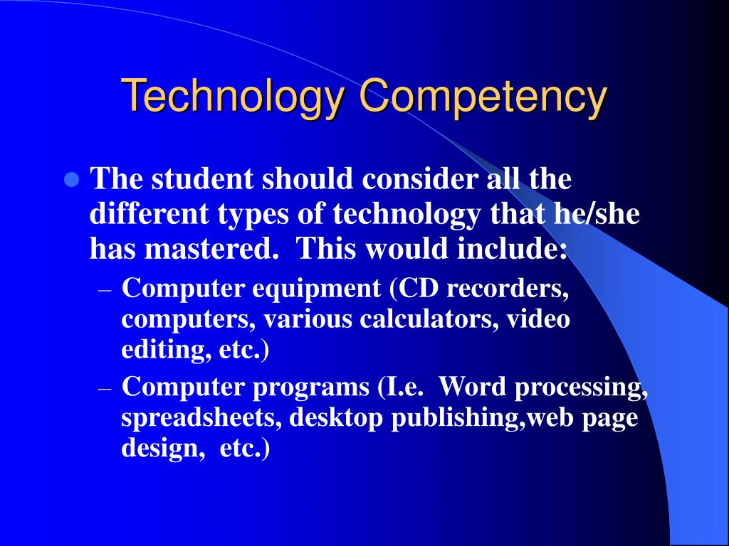 Technology Competency