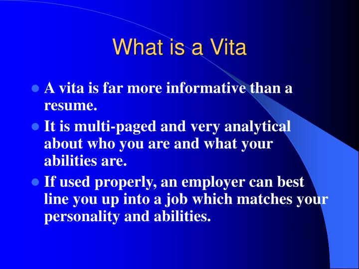 What is a vita