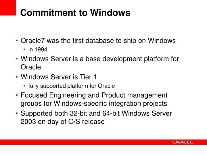 Commitment to windows l.jpg