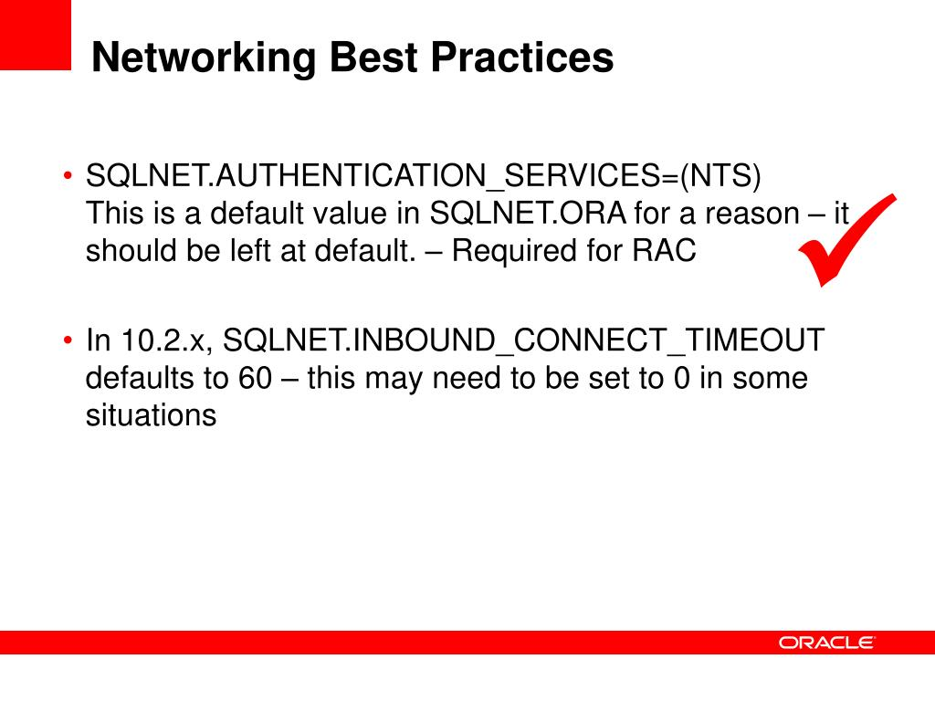 Networking Best Practices