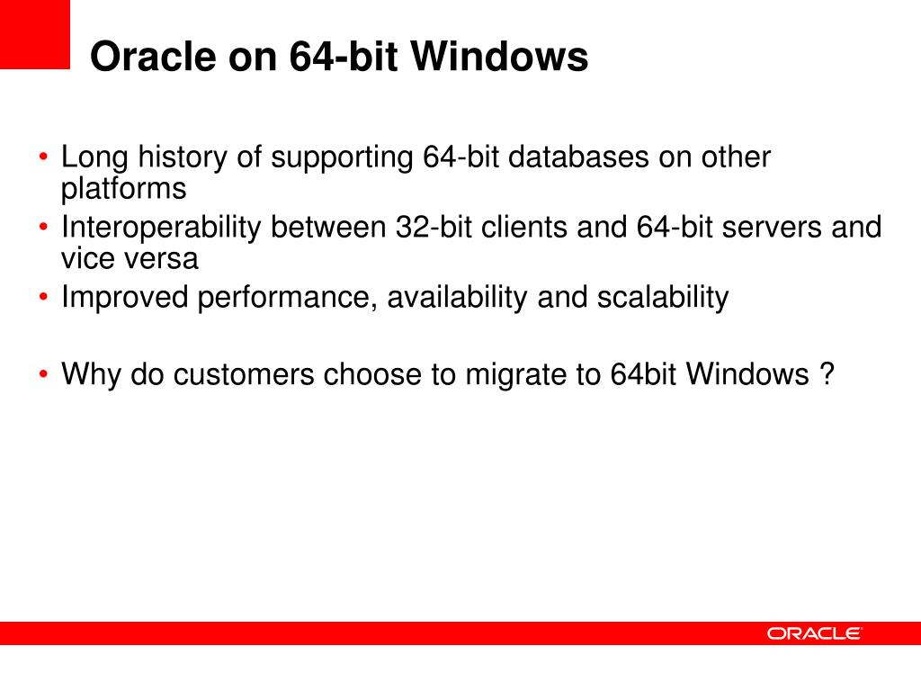 Oracle on 64-bit Windows