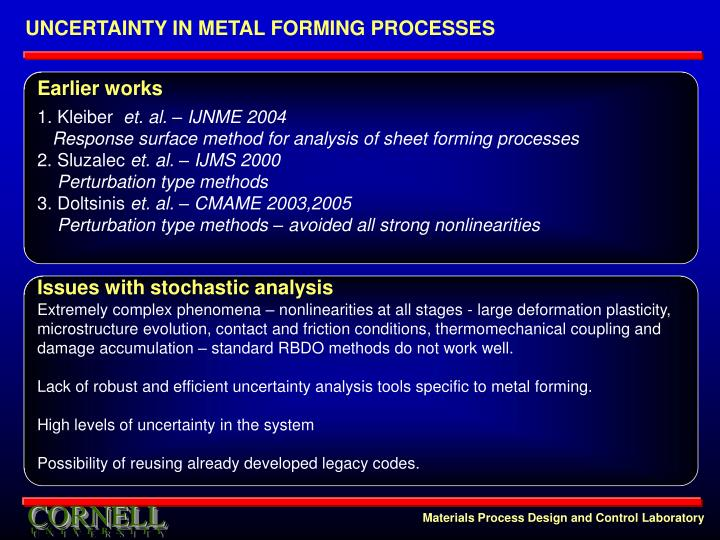 UNCERTAINTY IN METAL FORMING PROCESSES