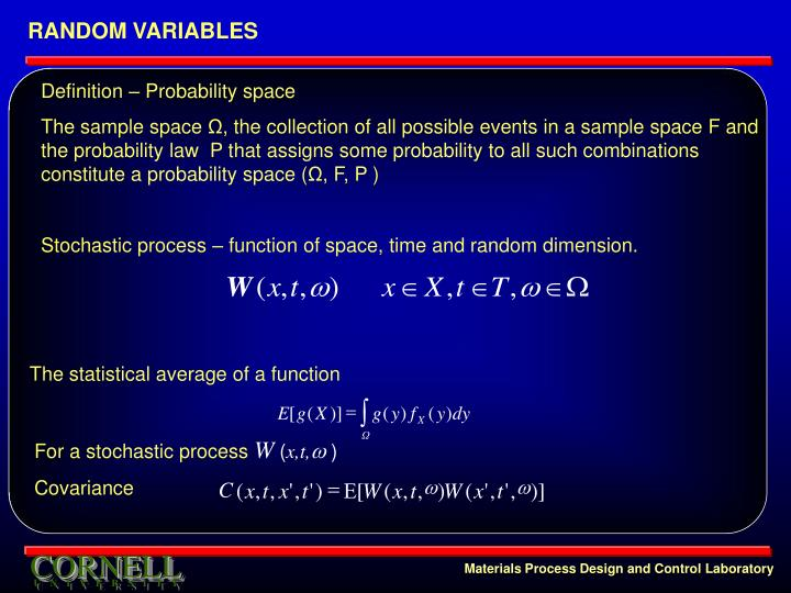 The statistical average of a function