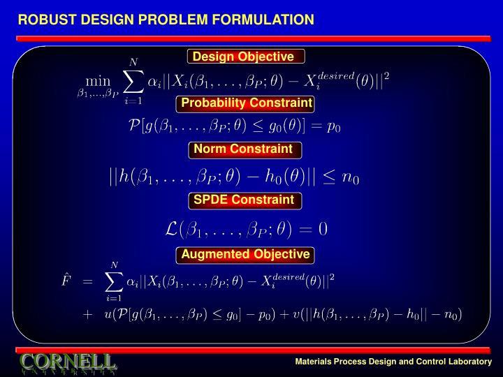 ROBUST DESIGN PROBLEM FORMULATION