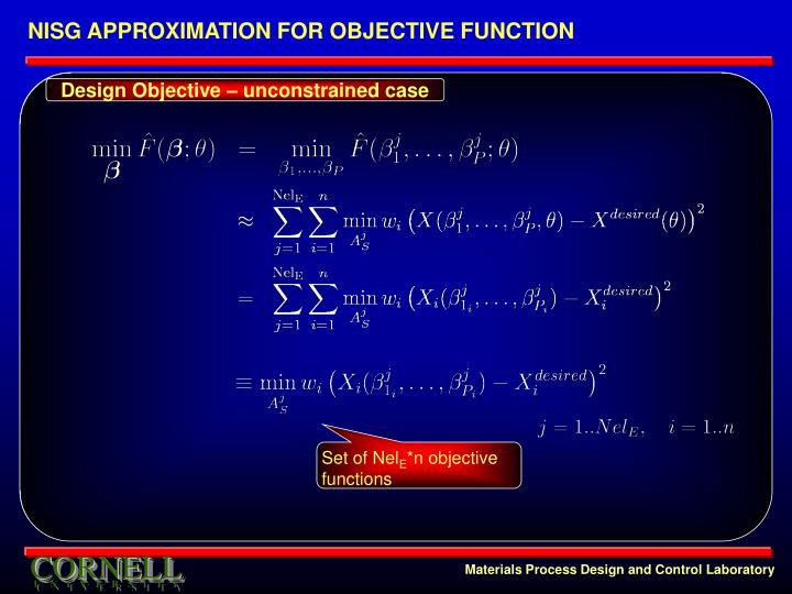 NISG APPROXIMATION FOR OBJECTIVE FUNCTION