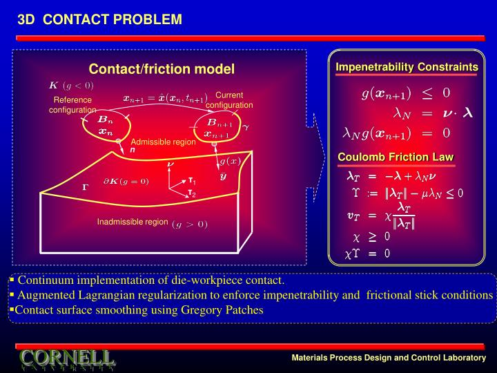 Contact/friction model