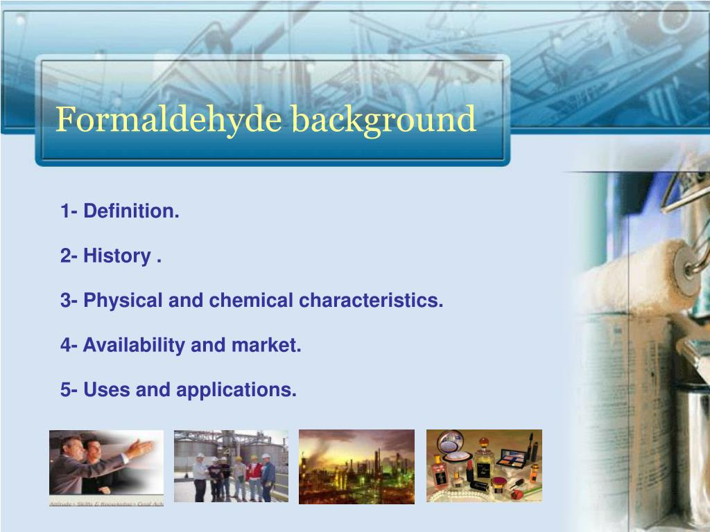 Formaldehyde background