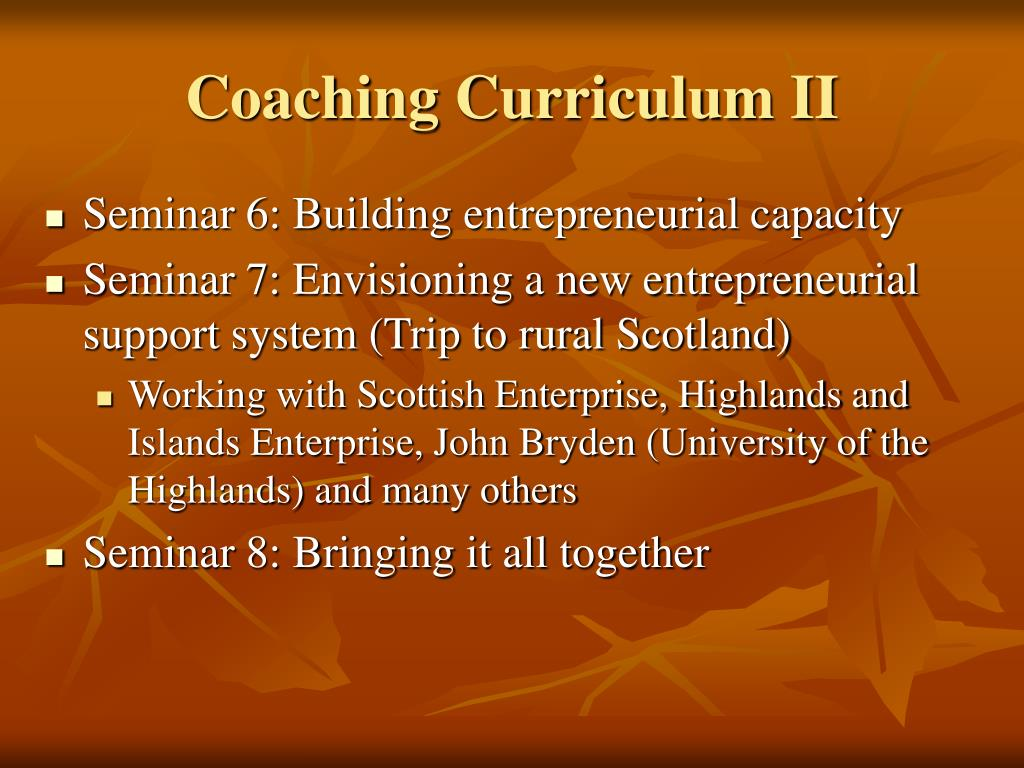 Coaching Curriculum II