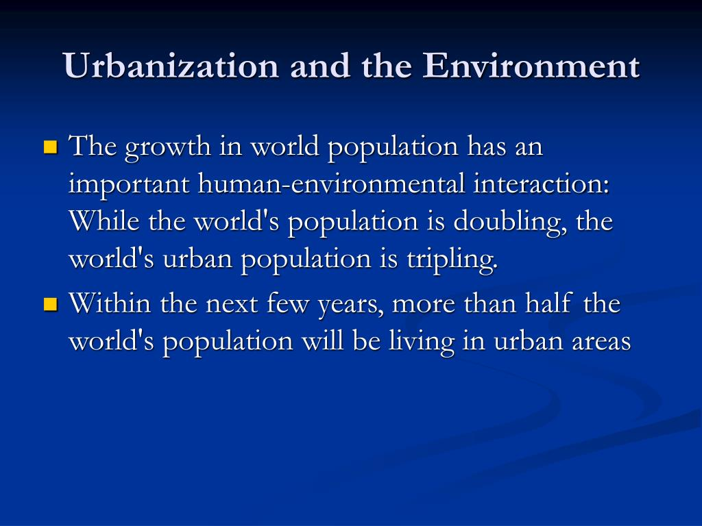 natural environment and urbanization By mark kinver science and environment reporter, bbc news  in areas that  were diverse and rich in natural resources, plants and animals.