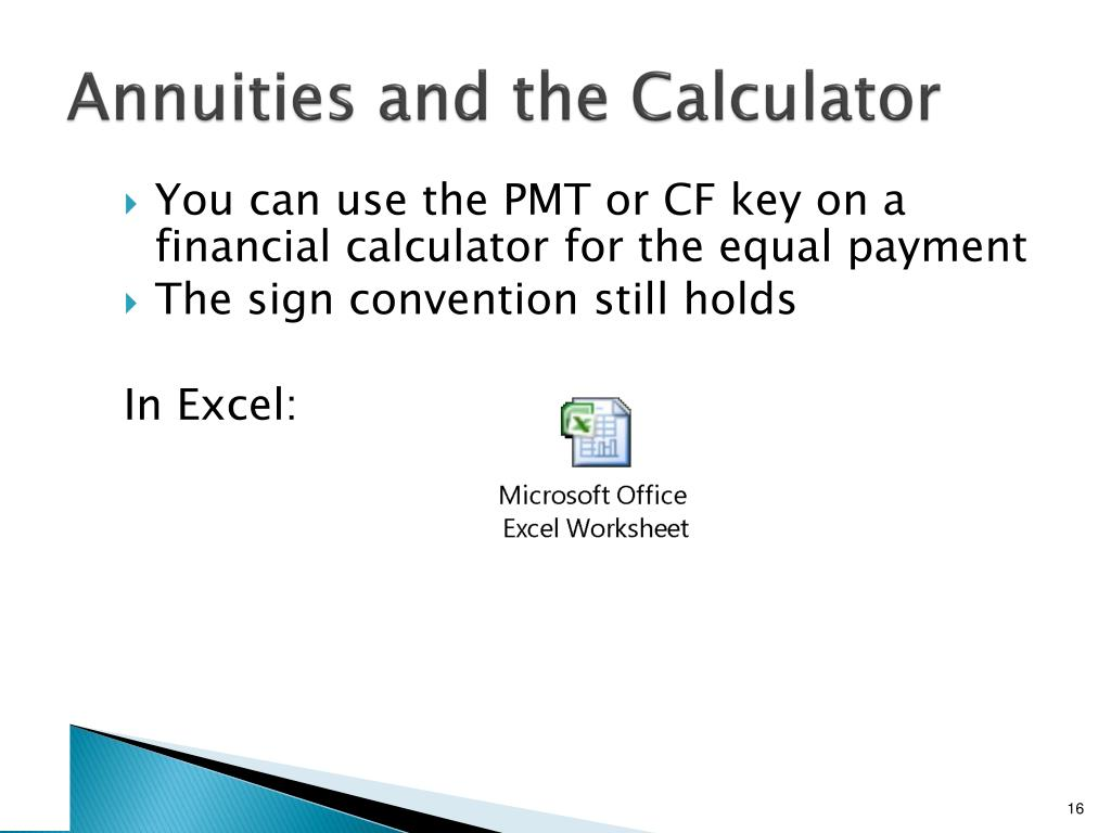 Annuities and the Calculator