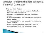 annuity finding the rate without a financial calculator
