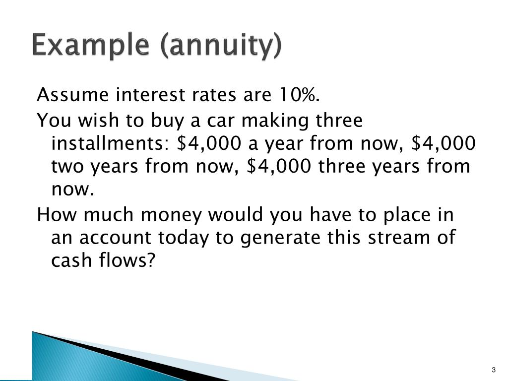 Example (annuity)