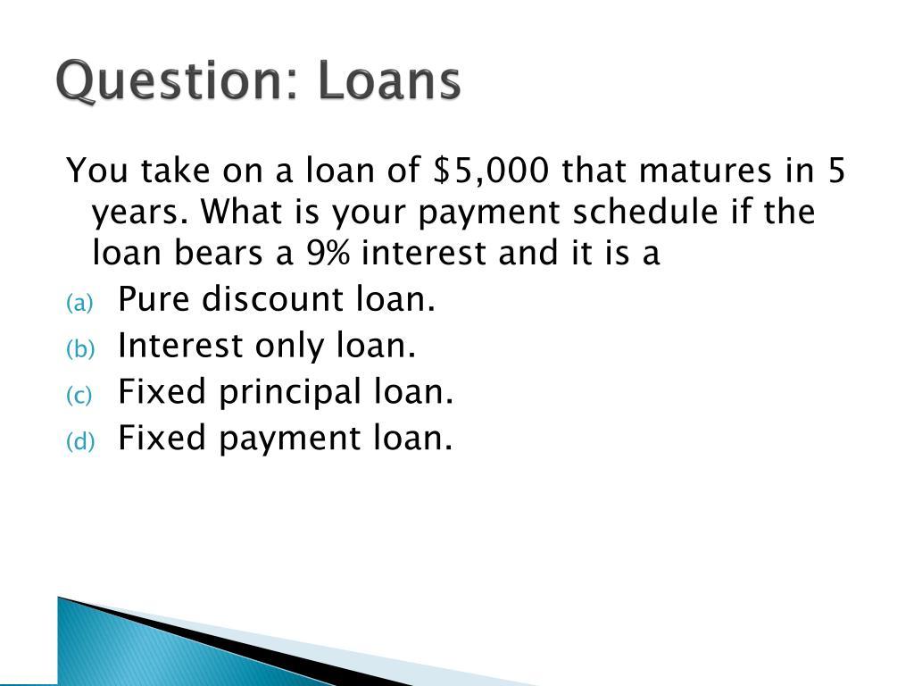Question: Loans