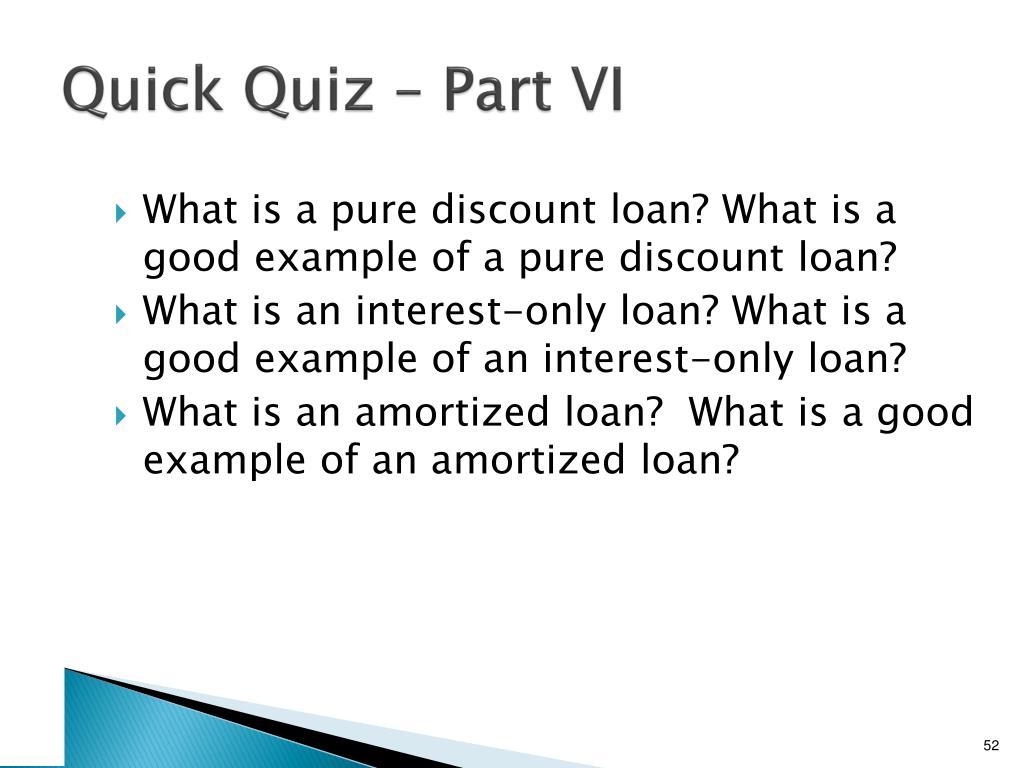 Quick Quiz – Part VI