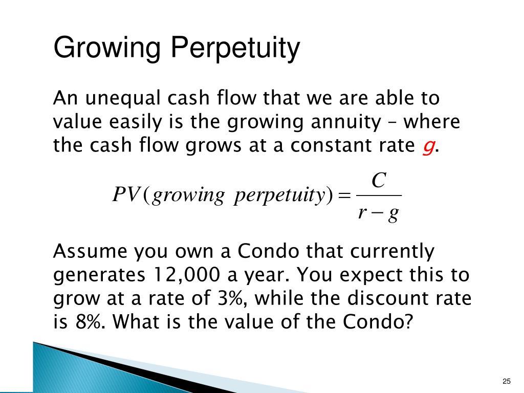 Growing Perpetuity