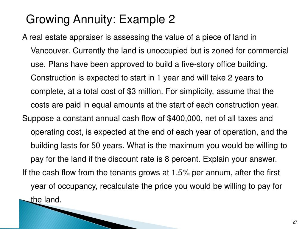 Growing Annuity: Example 2