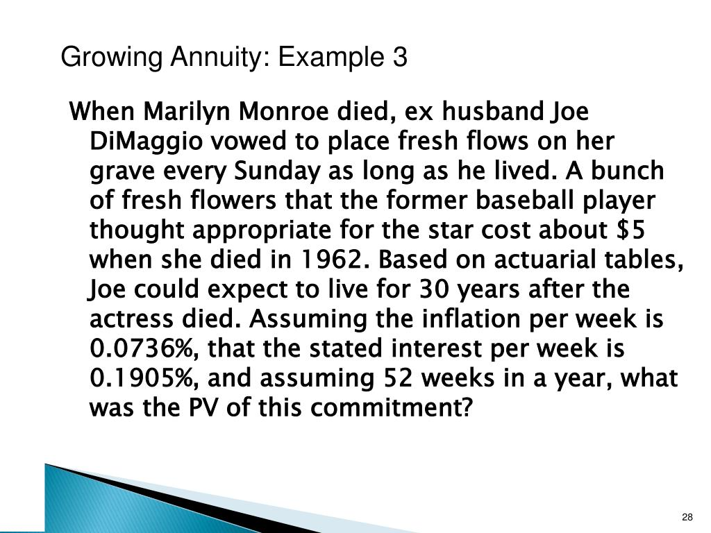 Growing Annuity: Example 3