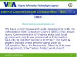 external commonwealth collaboration irec