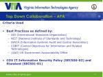 top down collaboration apa12