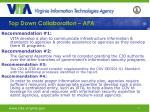 top down collaboration apa14