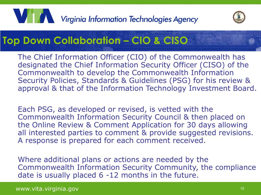Top Down Collaboration – CIO & CISO