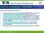 top down collaboration cio ciso17