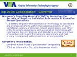 top down collaboration governor