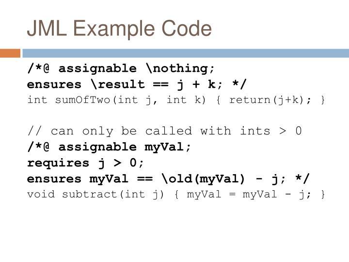 JML Example Code