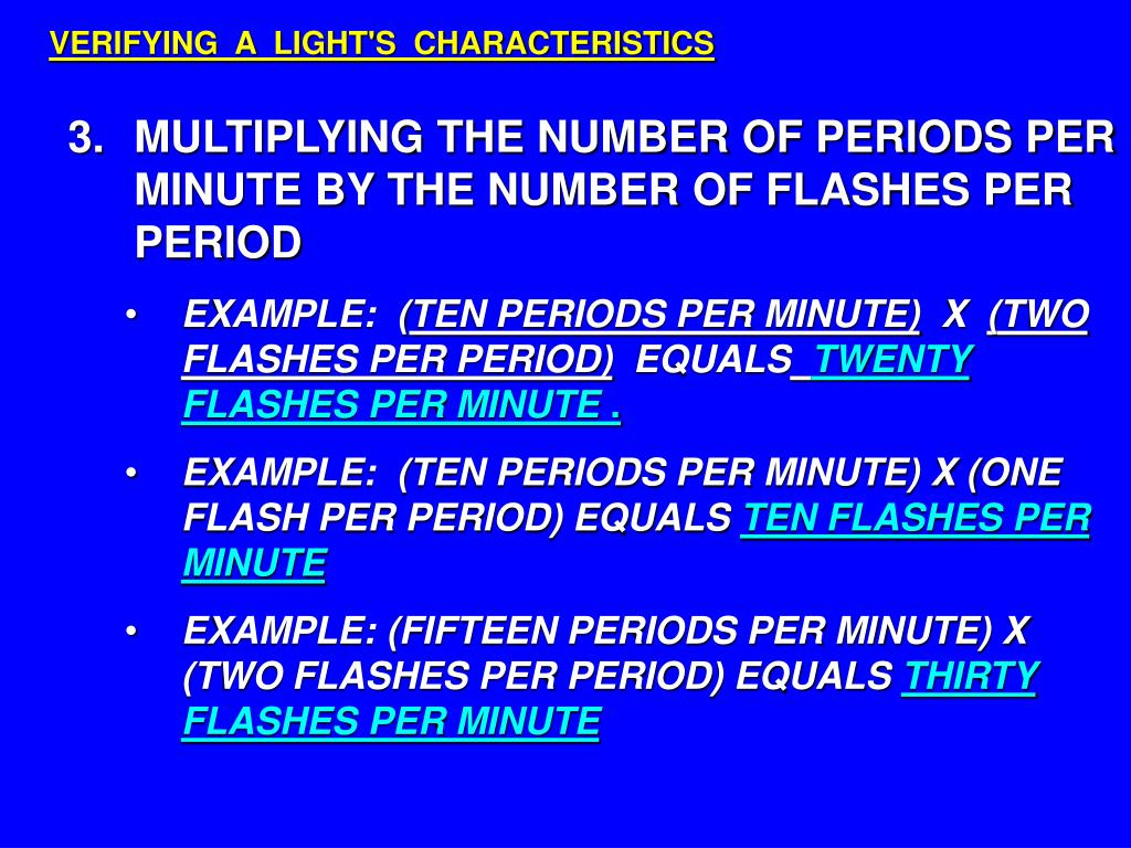 VERIFYING  A  LIGHT'S  CHARACTERISTICS