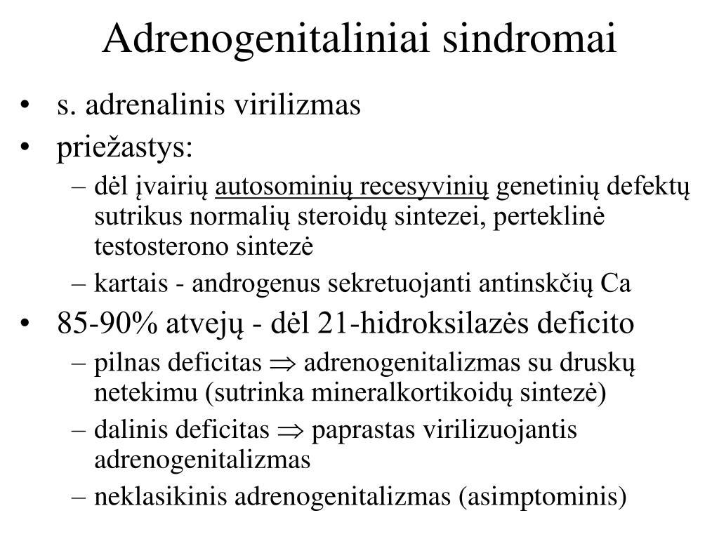 Adrenogenitaliniai sindromai